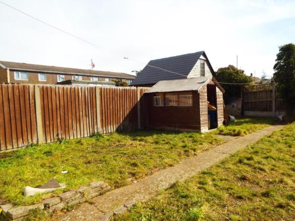 Rear garden and shed