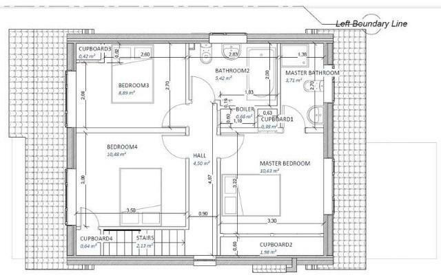 Upstairs floor plan.