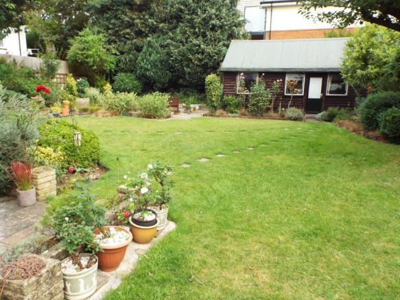 Rear garden and outh