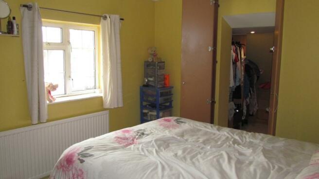 Bedroom with walk in