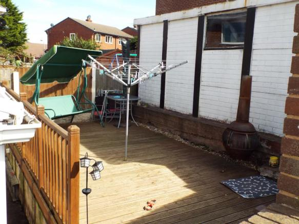 Patio and Garage