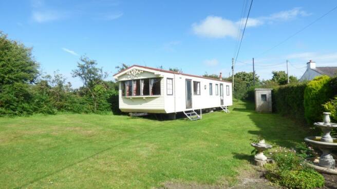 caravan and garden