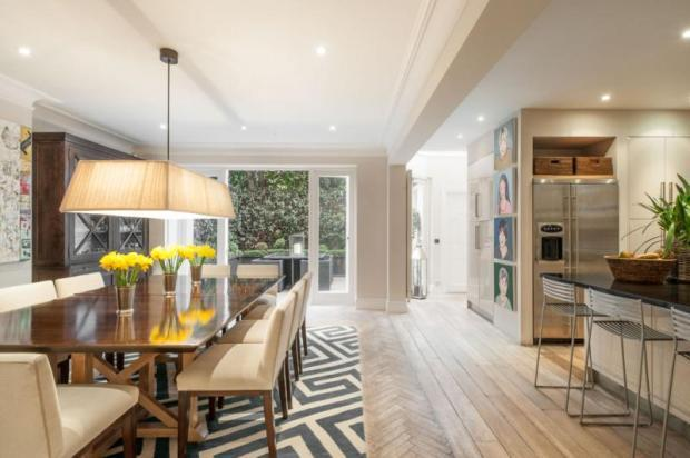 6 bedroom terraced house for sale in chelsea park gardens for Best private dining rooms chelsea