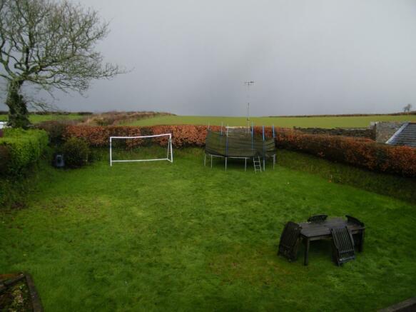 Rear garden backing