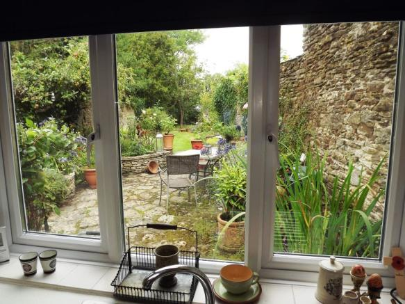 View from Kitchen wi