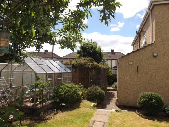 Side and rear garden