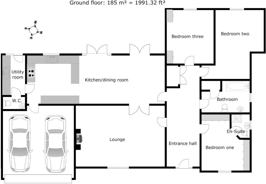 3 bedroom bungalow for sale in barnard, 6, hawkstone court