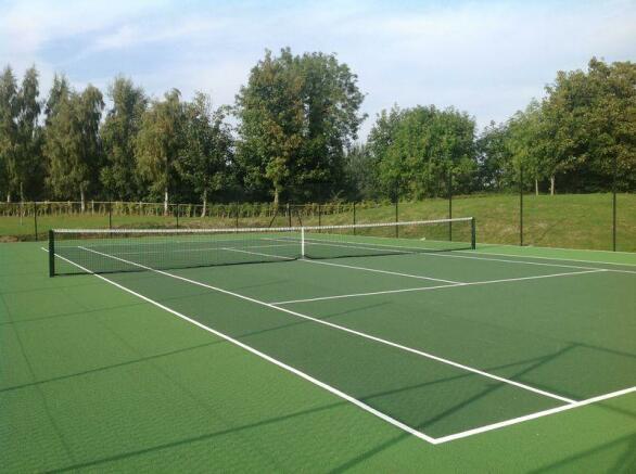 Tennis court a...
