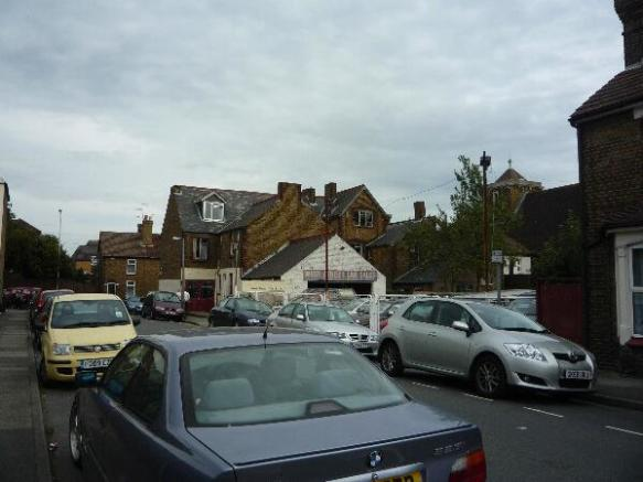 Car sales forecourt and showroom.