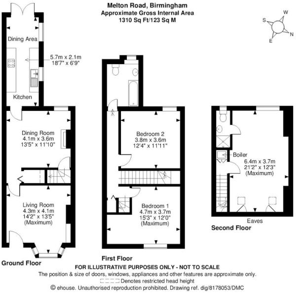 Enchanting terraced house loft conversion floor plan for Convert image to blueprint online