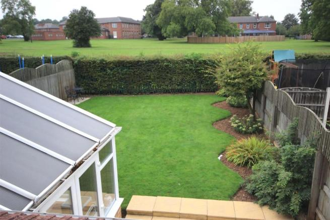 ELEVATED VIEW OF REAR GARDEN