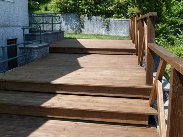 Timber decking...