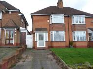 3 bedroom semi detached house in Lewis Road, Stirchley...