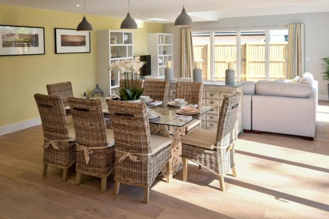 Show Home: Dining to Sitting area