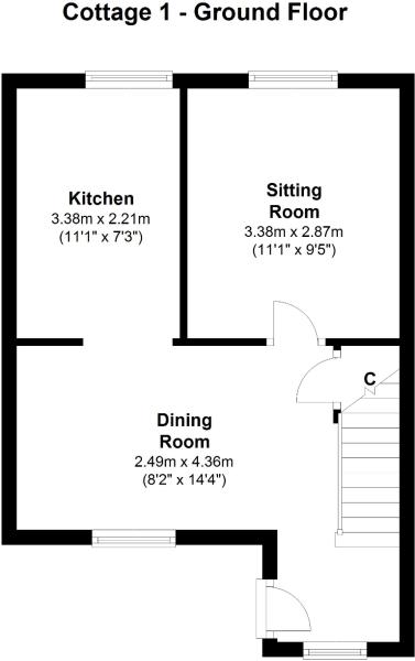 Cottage 1 - Ground Floor