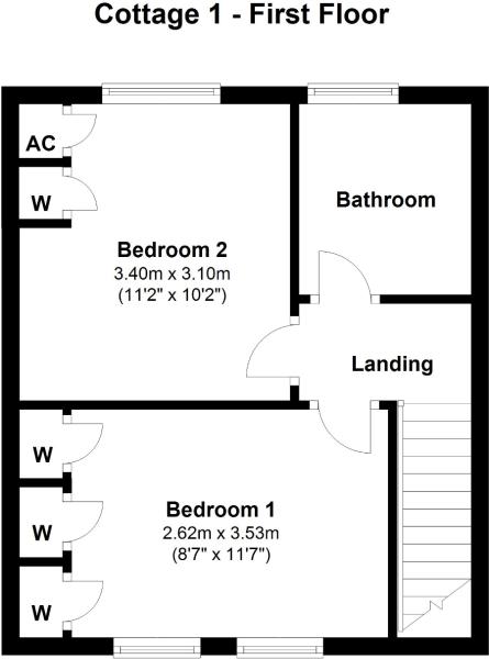 Cottage 1 - First Floor