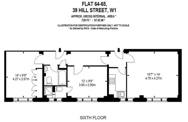Floor Plan 728 sq ft