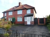 semi detached property in Ashbourne Road, Rocester...