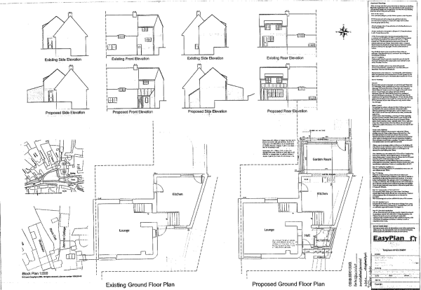Proposed Plans For Extension