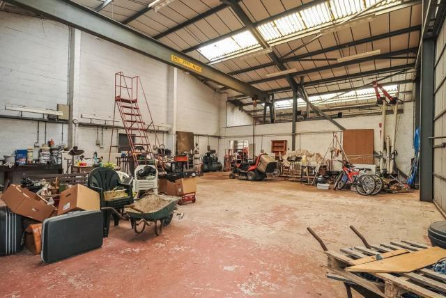 Outbuilding with Overhead Crane
