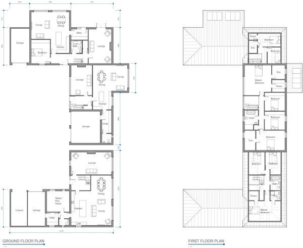 Proposed Floor Plans Block 1