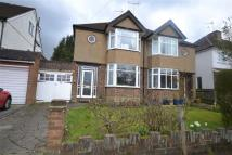 semi detached house in Winton Crescent...