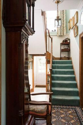hallway and st...