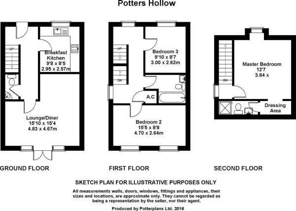Potters Hollow plan.