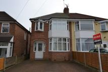 semi detached property for sale in Dowar Road, Rednal...