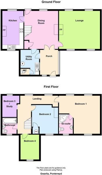 Gwarlia, Ponterwyd floor plan.JPG