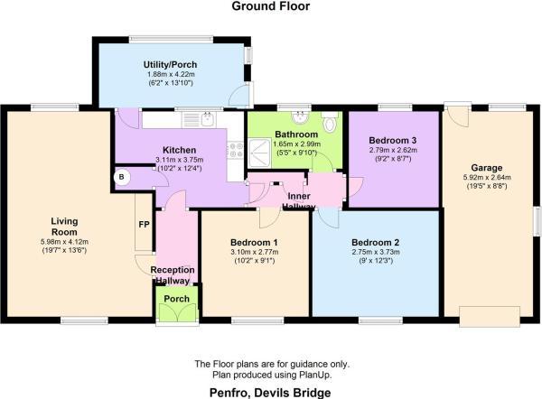 Penfro, Devils Bridge floor plan.JPG