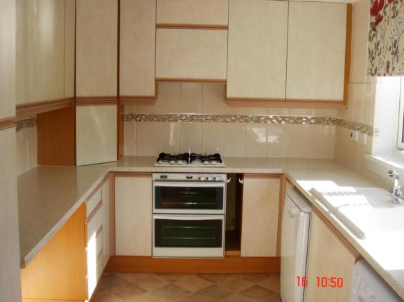 One end of kitchen