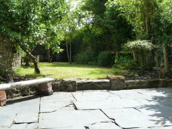 Sunny slate patio