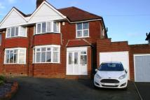 Frankley Avenue semi detached house for sale