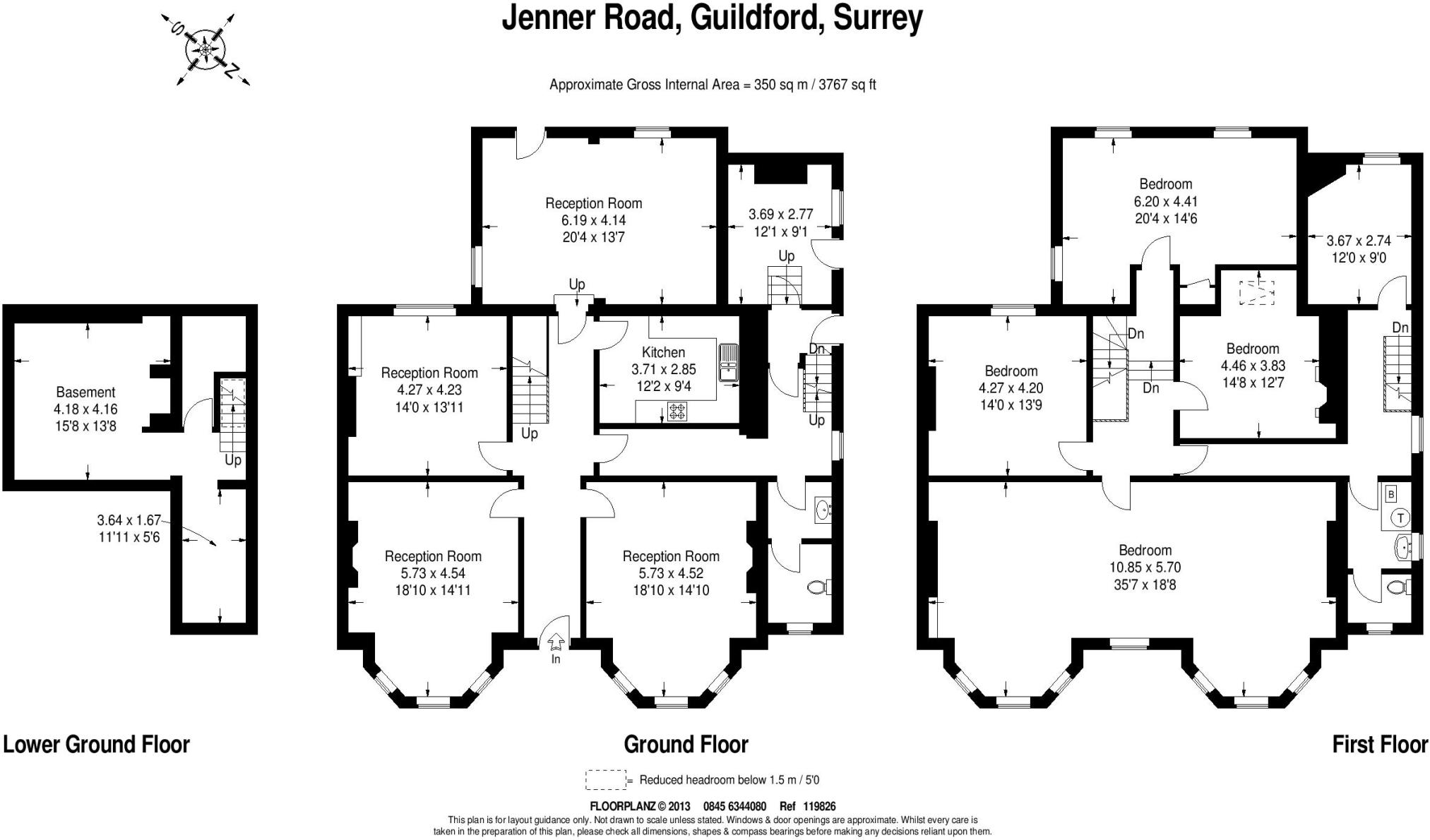 4 bedroom detached house for sale in Jenner Road Guildford