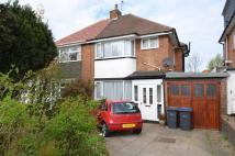 3 bed semi detached property in Yarningale Road...