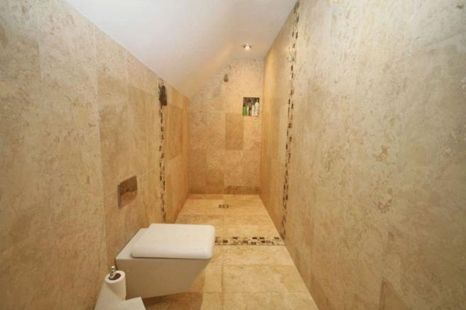 Shower area to...