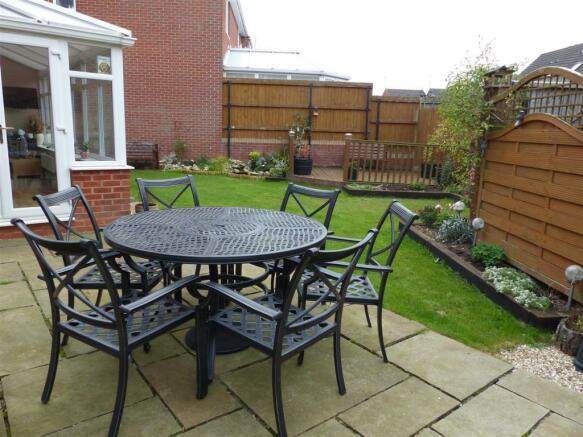 Extensive patio area