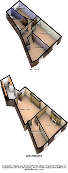 3D Floorplan - 1 Wit
