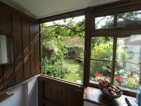 porch to garden