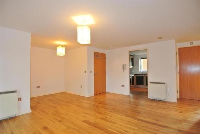 Solid wooden floors run through the living areas i