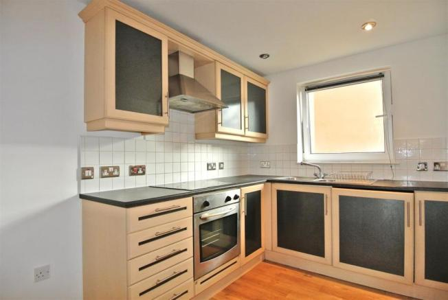 The kitchen is pleasingly seperate