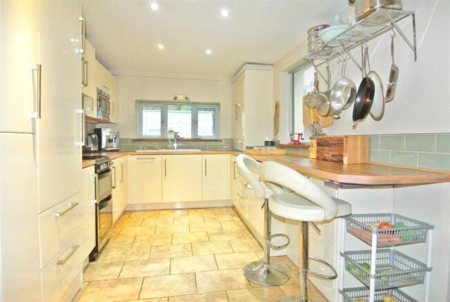 The stylish kitchen with underfloor heating
