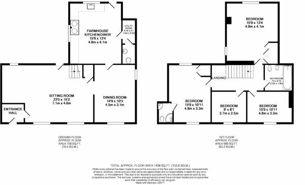 New Floor Plan - Monkeytree Cottage, The Green, Ca