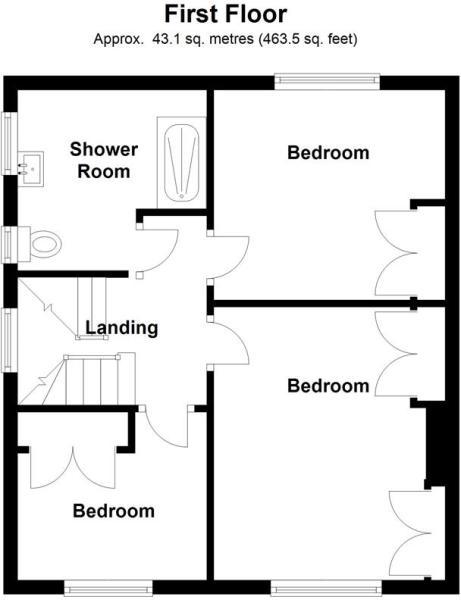 Whiteacres - Floor 1