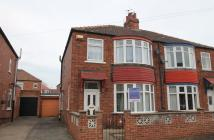 3 bed semi detached house in Harrogate Crescent...