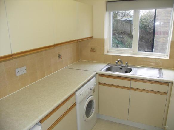Separate kitchen with appliances