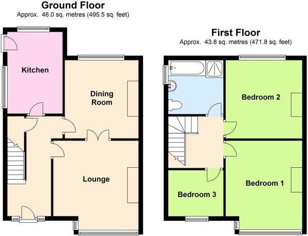 Floor Plan for Hafan