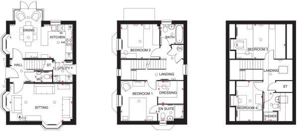 Hertford floor plans