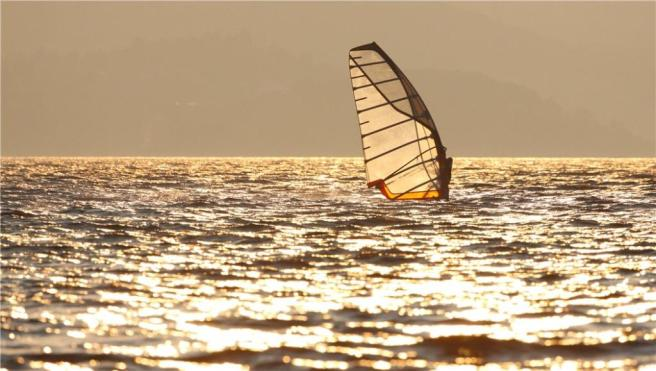 View Of Windsurfer